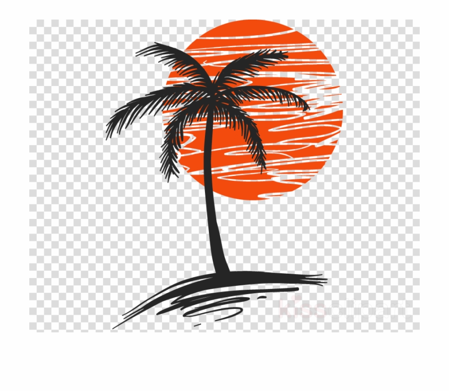 Palm Tree With Sun Clipart Palm Trees Clip Art.