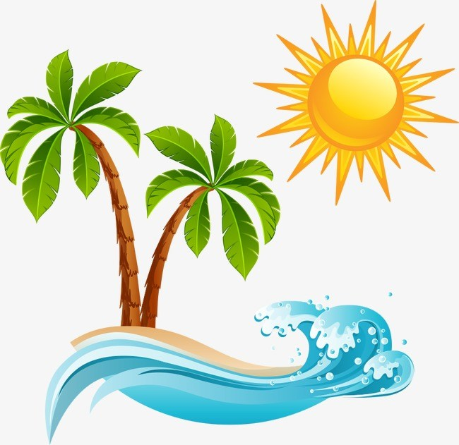 Palm tree and sun clipart 6 » Clipart Portal.