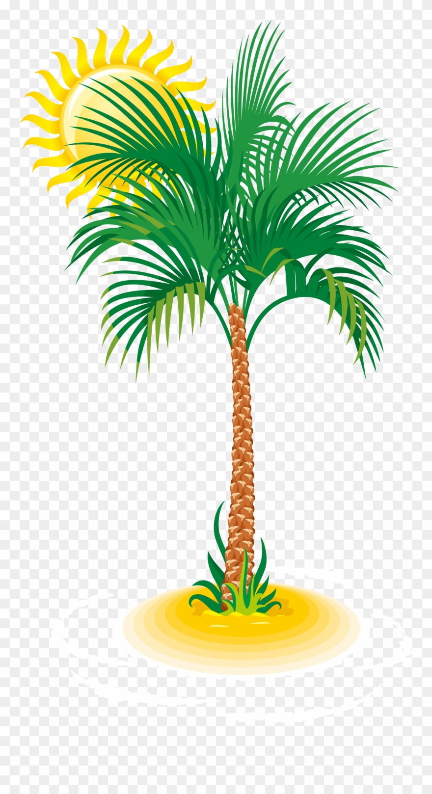Palm And Sun Png Clip Art Image Transparent Png (#495787.