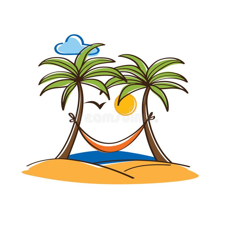 Palm tree hammock clipart 6 » Clipart Station.