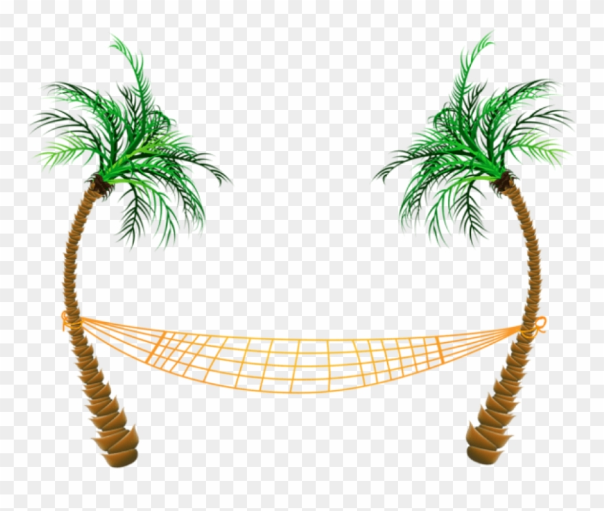 Download Transparent Palm Beach Hammock Clipart Png.