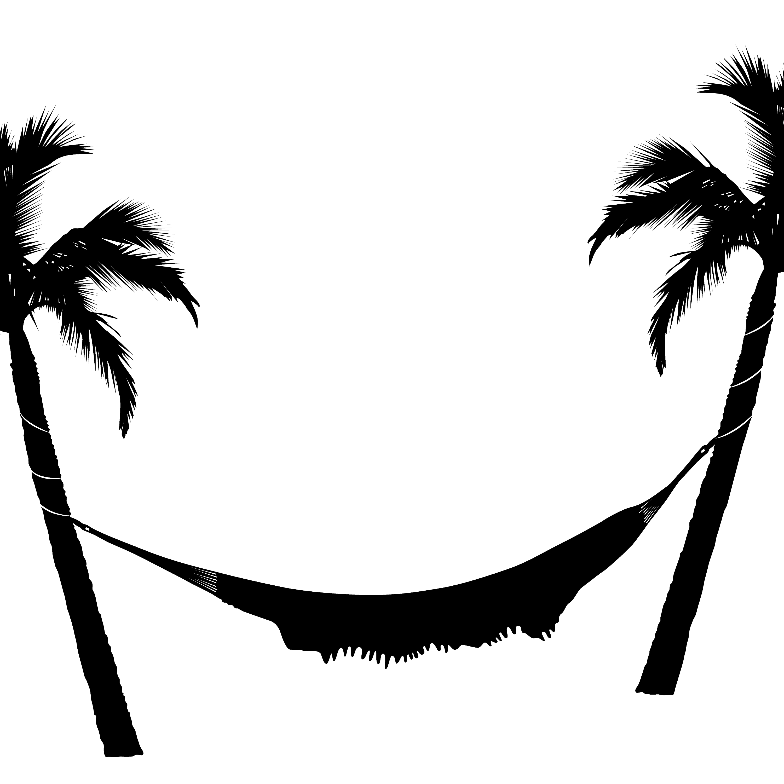 Hammock and Palm Trees transparent PNG.