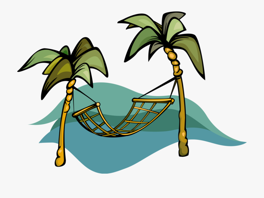 Hammock And Palm Trees.