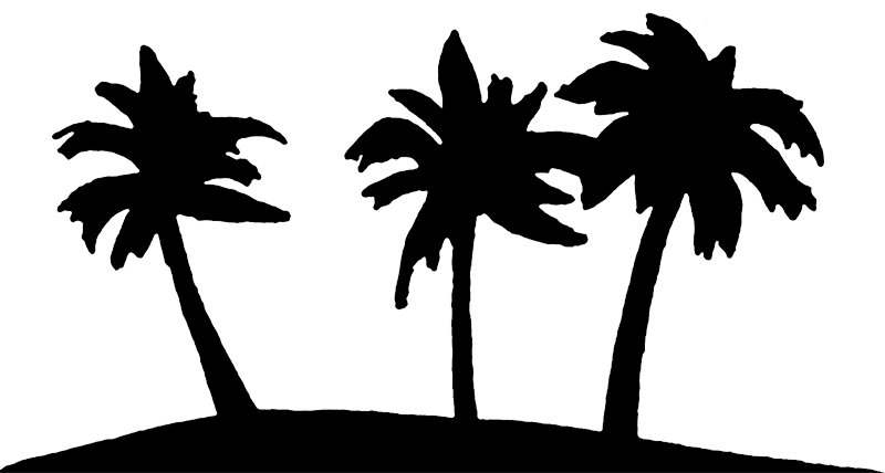 Palm tree forest clipart.