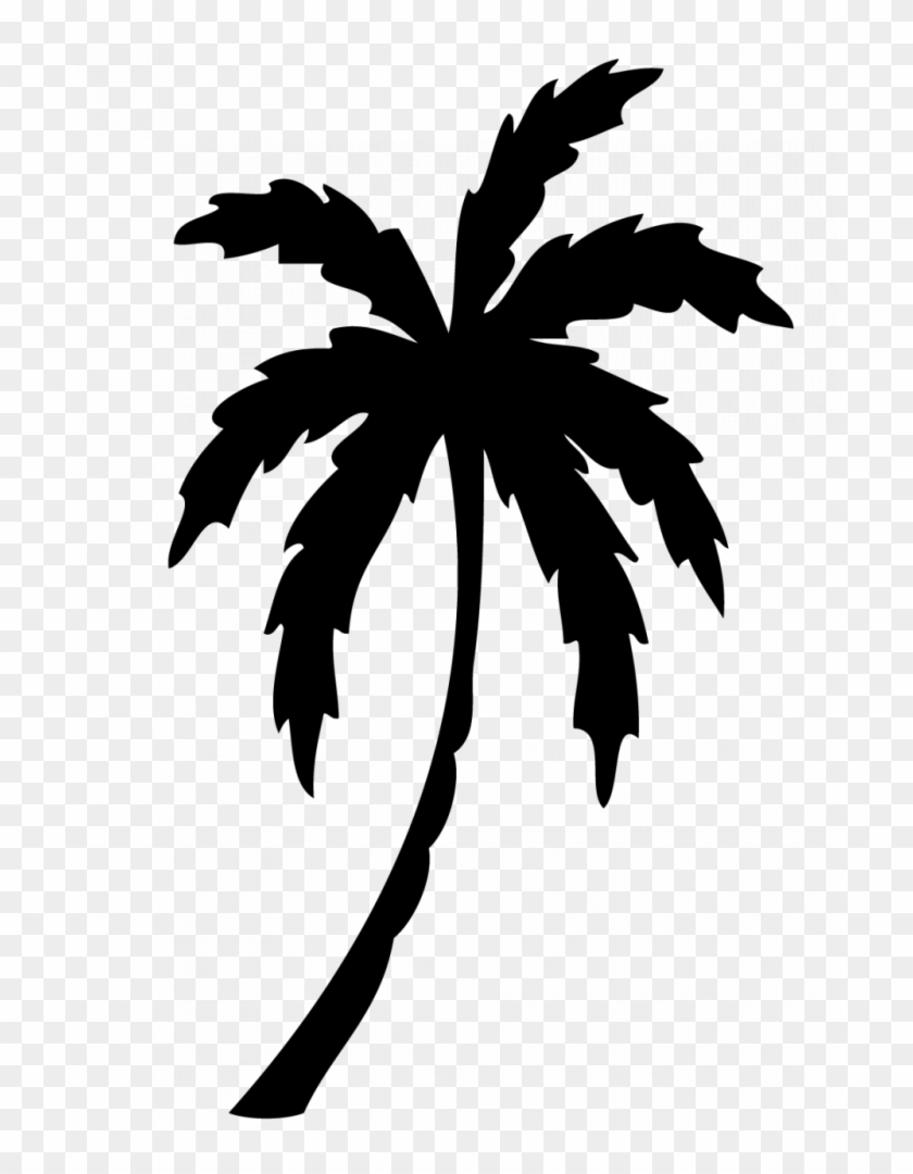 Elegant Of Palm Tree Clipart Black And White.