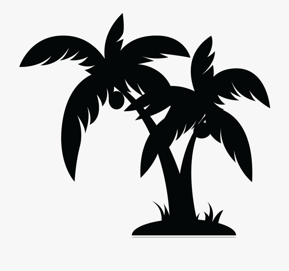Palm Tree Clipart Black And White 1.