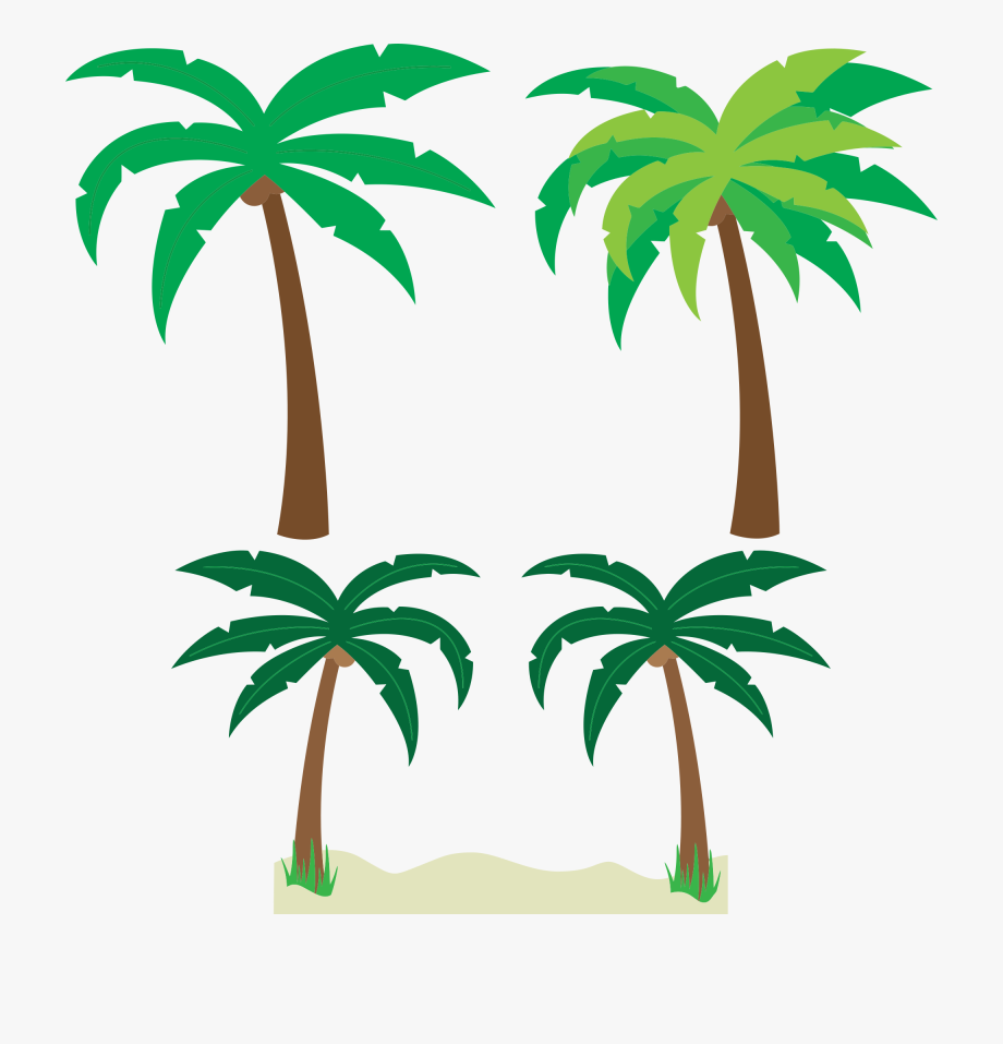 Free Cartoon Palm Trees Clipart Clipart And Vector.