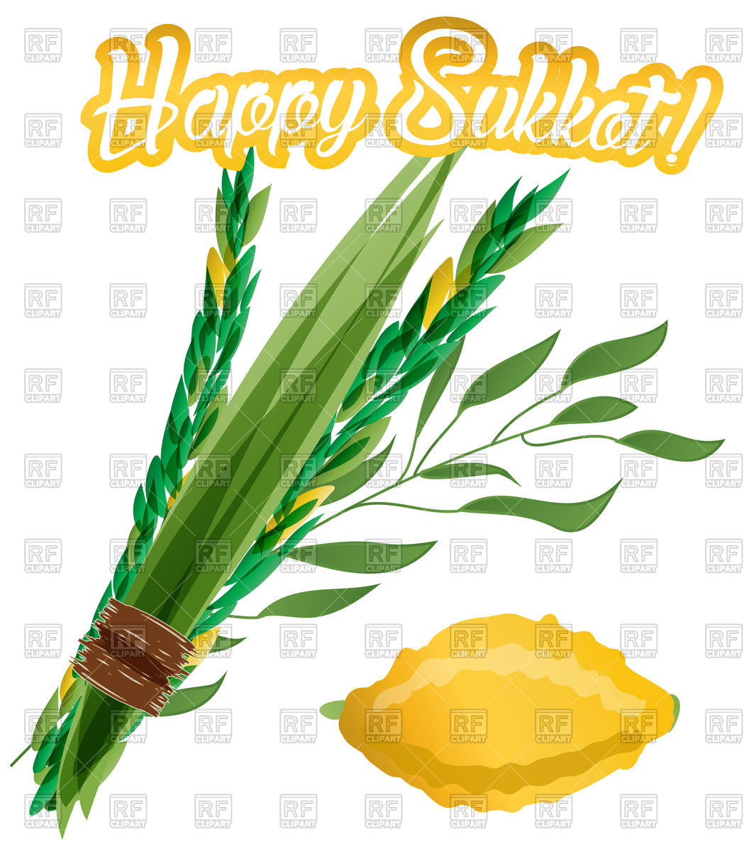 Symbol of Sukkot, four species.