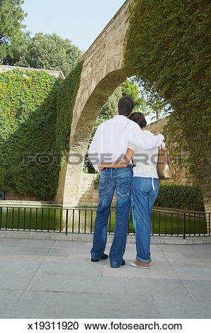 Stock Photography of Spain, Palma de Mallorca, young couple.