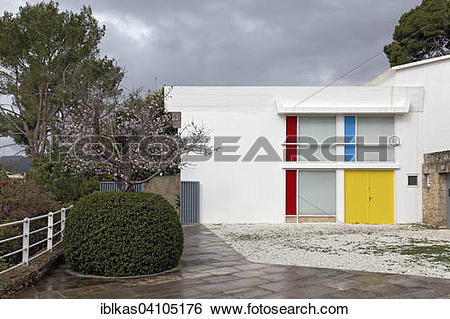 Stock Images of Taller Sert, studio of the painter Joan Miro.