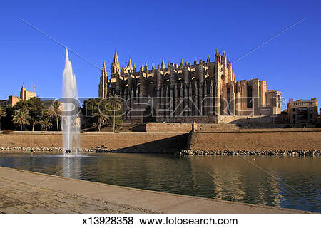 Pictures of Palma de Mallorca, Cathedral La Seu, Parc de Mar.