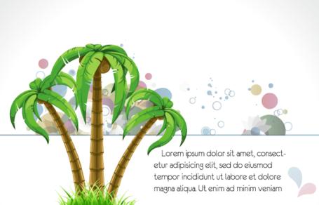 Gratis vektor tropiska palmer på sommaren bakgrund, vector.