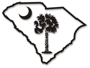 Palmetto Tree And Crescent Moon Clipart.