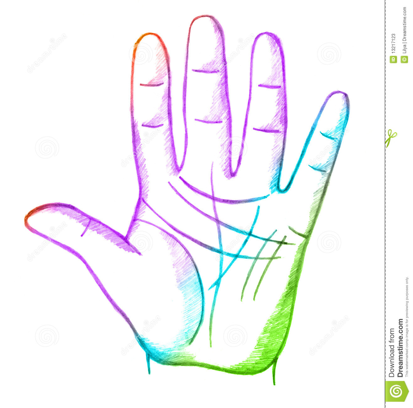 Palmistry, Fortune Telling Stock Photos.