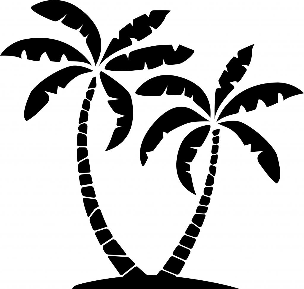 Palm tree clipart tropical palm trees.