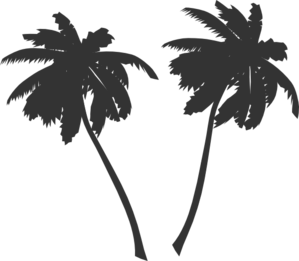 Palms clipart.