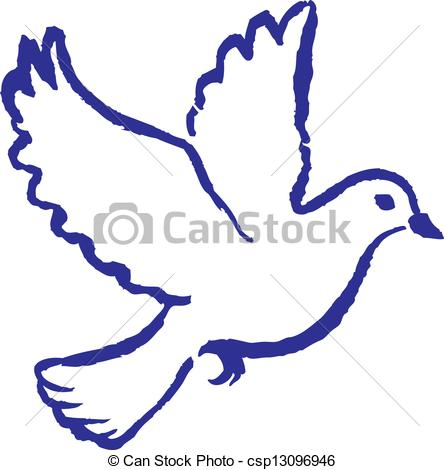 EPS Vector of Peace Dove.