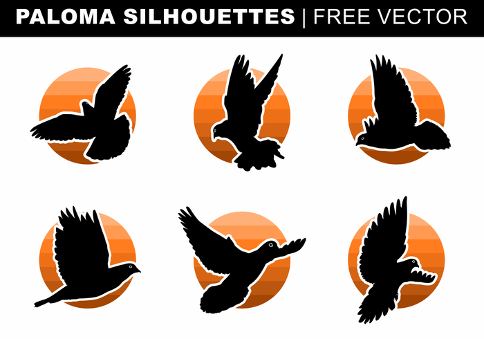Paloma Silhouettes Free Vector.