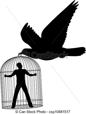 Clipart Vector of Silhouette of a pigeon csp8849795.