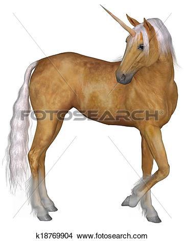 Drawings of Palomino Unicorn.