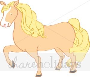 Palomino Pony Clipart.