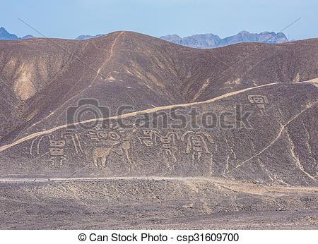 Stock Photography of Palpa Lines and Geoglyphs, Peru csp31609700.