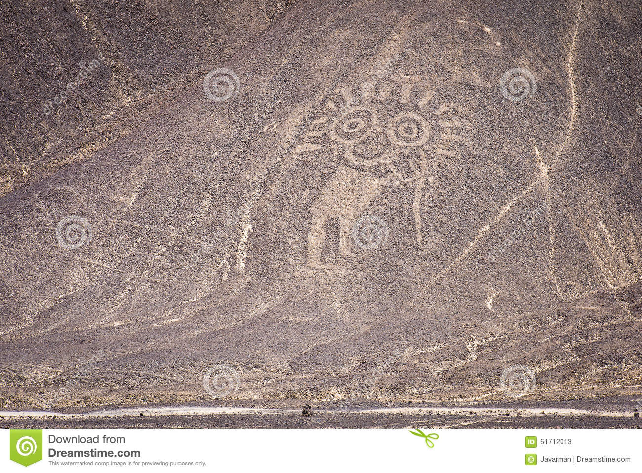 Palpa Lines And Geoglyphs, Peru Stock Photo.