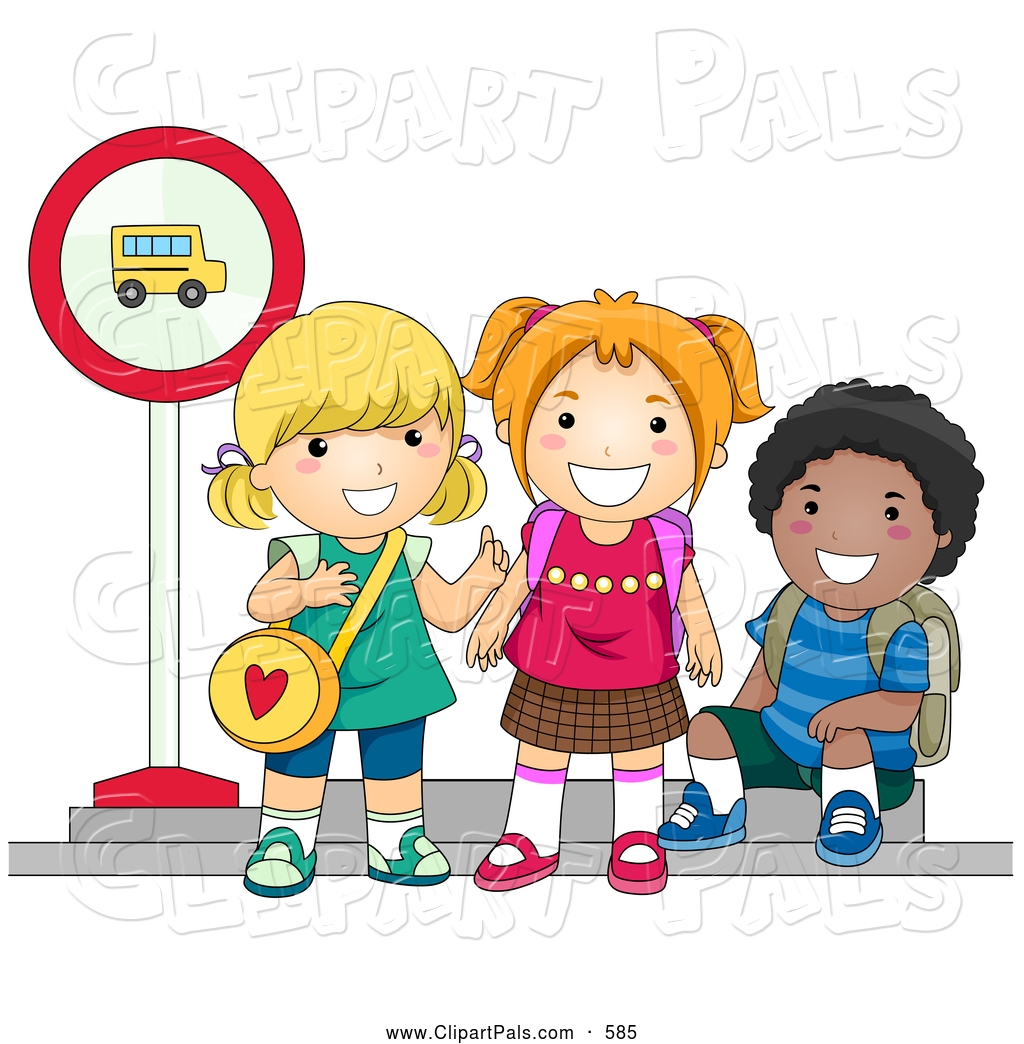 School children clipart pals.
