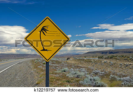 Picture of Strong winds in the pampa near Lago Argentino.