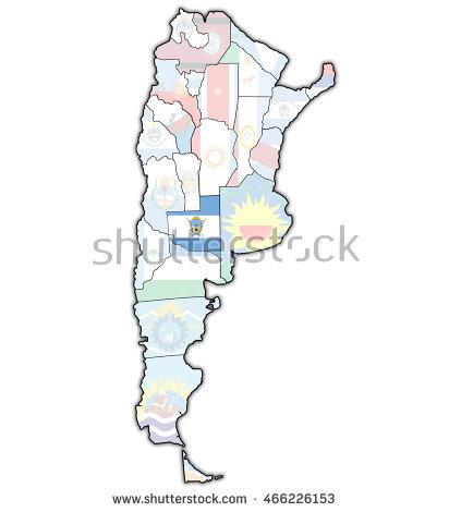 La Pampa Map Stock Photos, Royalty.