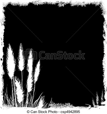 Clipart Vector of Pampas Grass Grunge Background csp4942895.