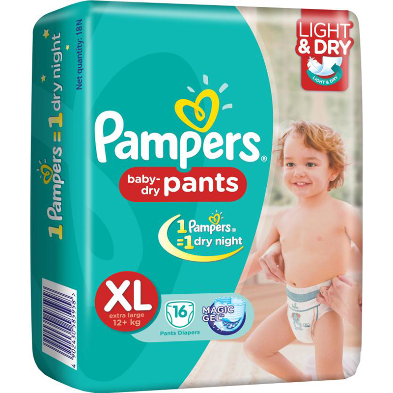 Pampers Baby Dry Pants XL 16s.