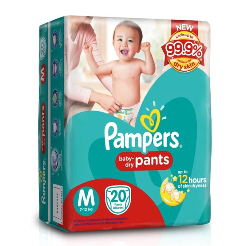Pampers Baby Dry Pants Medium 20s.