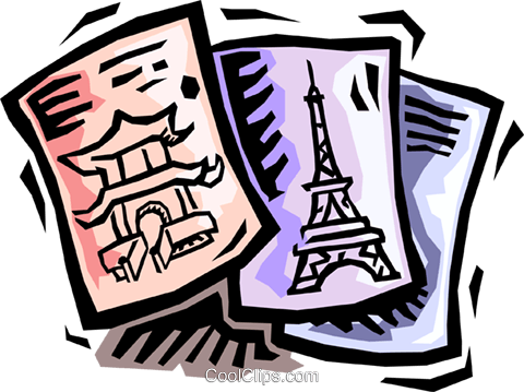 travel brochures Royalty Free Vector Clip Art illustration.