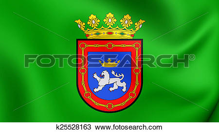Drawing of Flag of Pamplona, Spain. k25528163.
