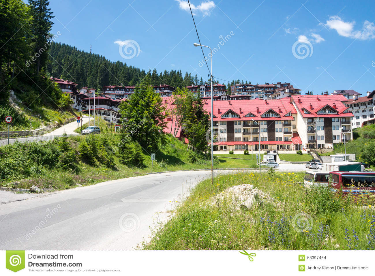 Holiday Complex In The Rhodope Mountains. Pamporovo, Bulgaria.