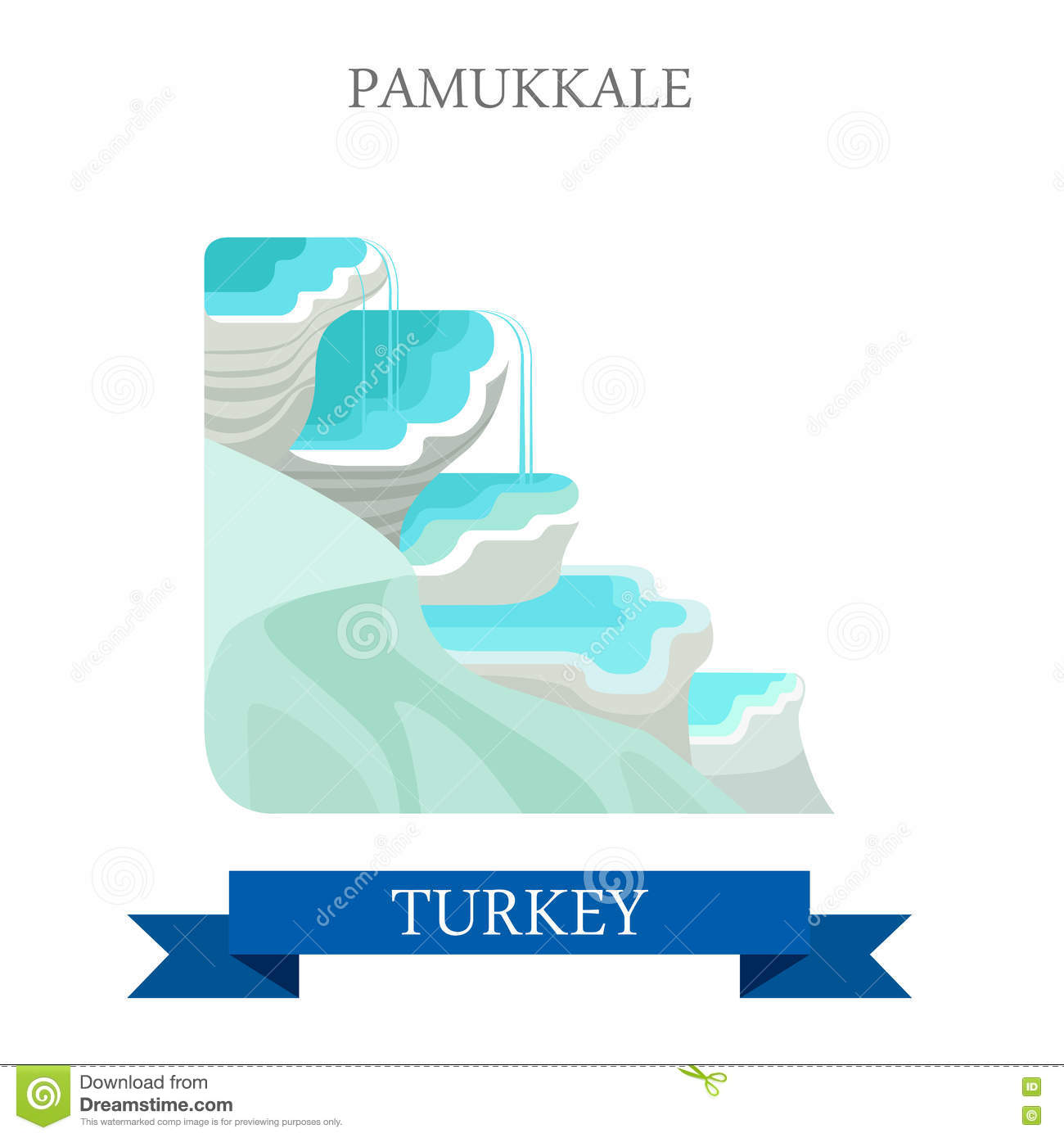 Pamukkale In Turkey Attraction Tourist Attraction Landmark Stock.