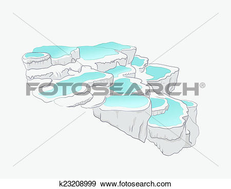 Stock Illustration of Pamukkale k23208999.