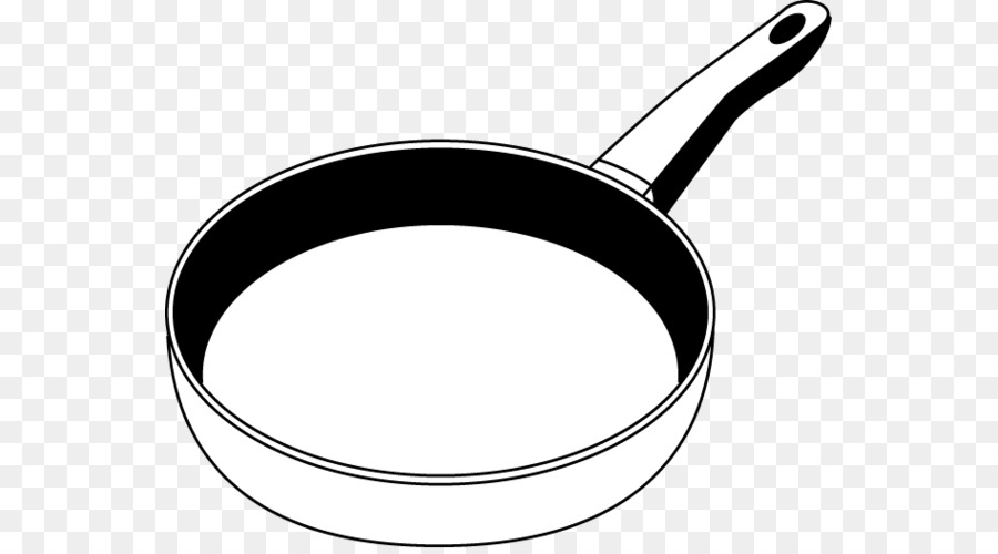 Frying Pan Black And White png download.