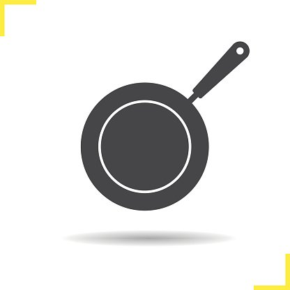 Frying pan icon Clipart Image.