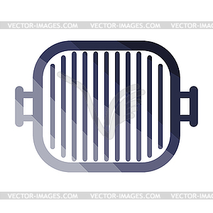 Grill pan icon.