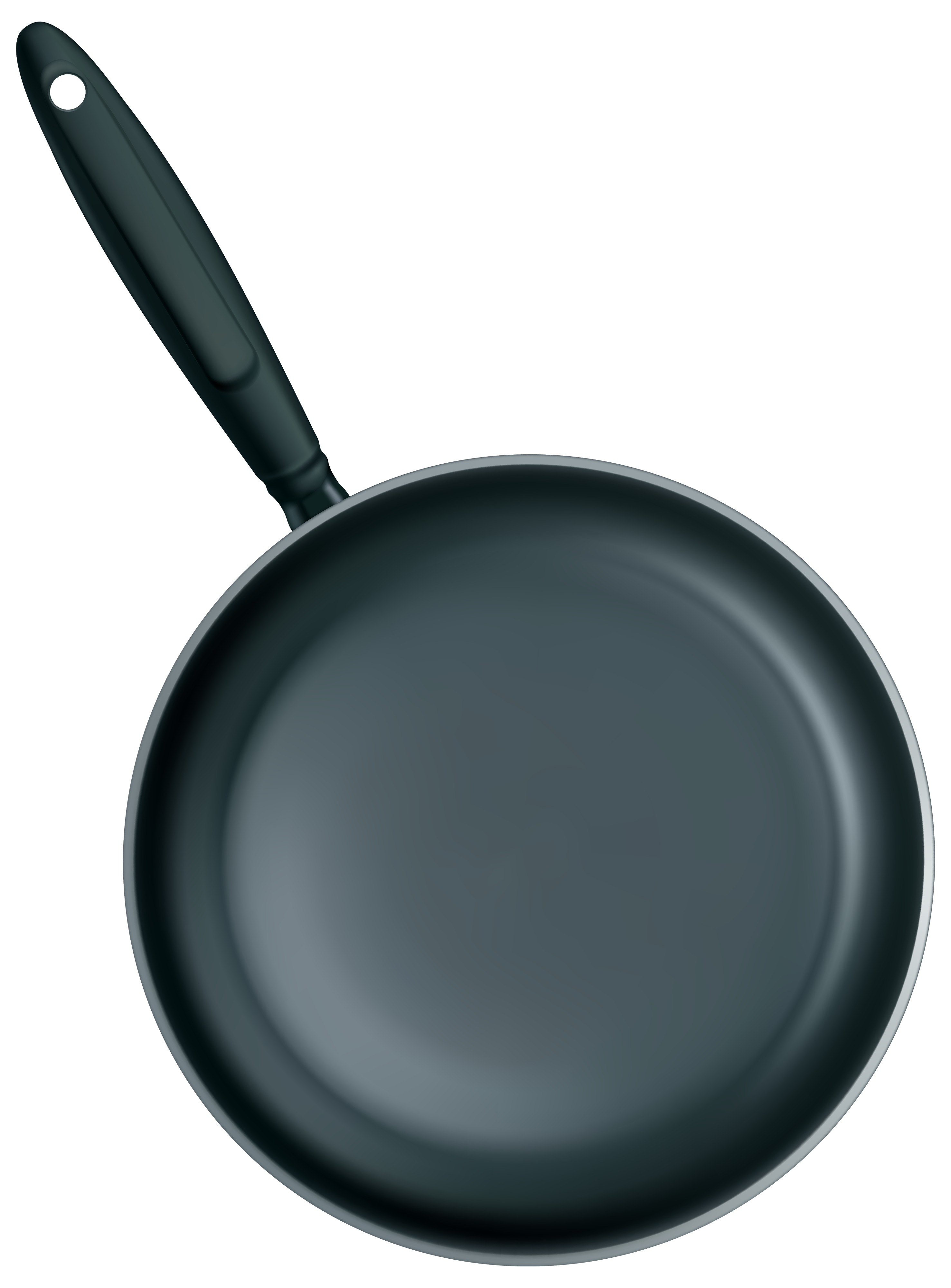 Black Frying Pan PNG Clipart.
