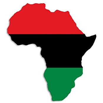 Amazon.com: AFRICA SHAPED Pan African Flag Sticker (black history.
