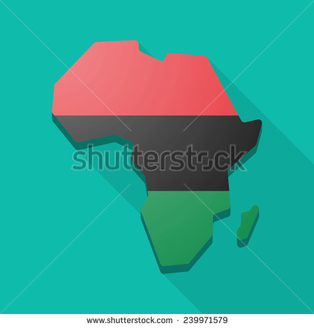 Isolated Africa Continent Map Icon With A Pan.