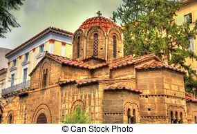 Pictures of Greek church of Panagia Kera. Crete. Greece.