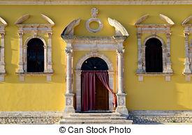 Pictures of Greek church of Panagia Kera. Crete. Greece.