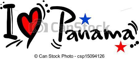 Vector Illustration of Love panama.