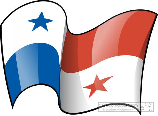 Panama flag clipart.