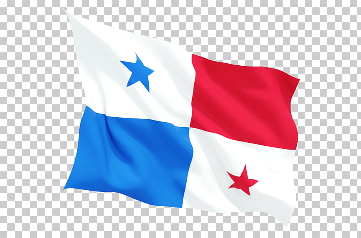 Panama Flag Wave, red and white flag PNG clipart.