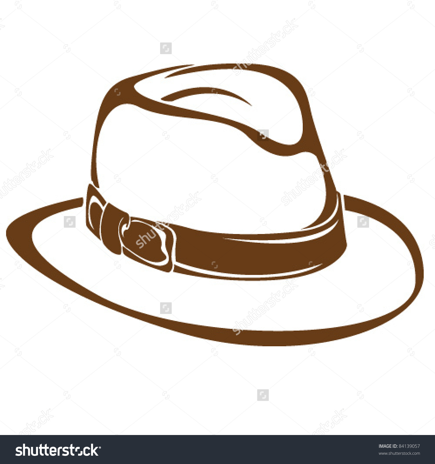 Panama Hat Stock Vector 84139057.